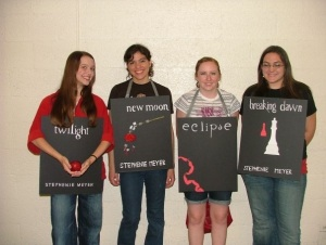 Costumes, homemade t-shirts, and Twilight Saga character look-a-likes