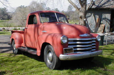Bella's truck, which I picked out all by myself (a 1953 Chevrolet Pickup Truck)