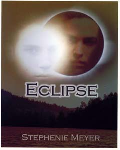 "This is the original cover I put on Eclipse when I was giving it out to family and friends in three-ring binders. I didn't post it earlier because I was afraid the idea of Edward being visually (if metaphorically) ""eclipsed"" would not go over well. (After reading early Amazon comments, I'm pretty sure I was not being paranoid in that assumption.) Of course, having read the book, you know this cover was a red herring twist on the reality."